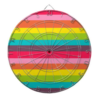 Cute Colorful Rainbow Dartboard With Darts