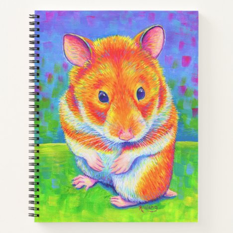 Cute Colorful Rainbow Hamster Spiral Notebook