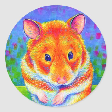 Cute Colorful Rainbow Hamster Stickers