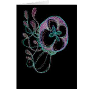 Cute Colorful Rainbow Jellyfish Digital Design Card