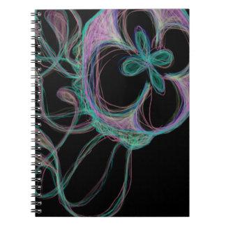 Cute Colorful Rainbow Jellyfish Digital Design Spiral Notebook