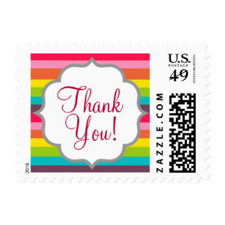 Cute Colorful Rainbow Postage