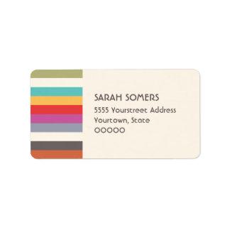 Cute Colorful Rainbow Stripes Label