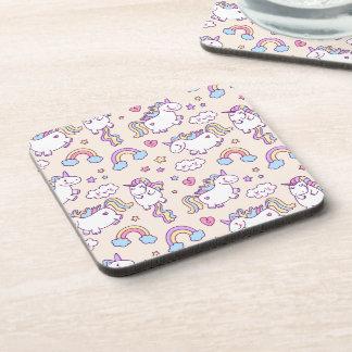 Cute & Colorful Rainbows and Unicorns | Coaster