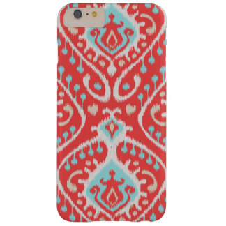 Cute colorful red turquoise girly ikat tribal patt barely there iPhone 6 plus case