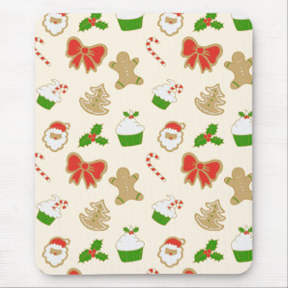 Cute colorful retro christmas pattern mouse pad