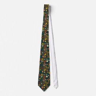 Cute Colorful Retro Flowers & Butterflies Tie