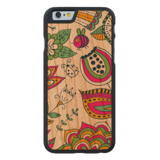 Cute Colorful Retro Flowers Carved® Cherry iPhone 6 Slim Case
