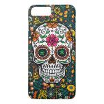 Cute Colorful Retro Flowers Sugar Skull iPhone 8 Plus/7 Plus Case