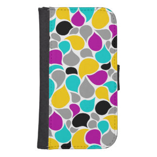 Cute colorful seamless patterns design samsung s4 wallet case