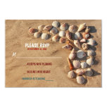 cute colorful seashells beach wedding RSVP cards Personalized Announcements