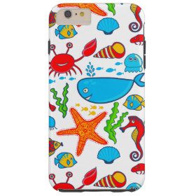 Cute Colorful See-life Illustration Pattern 2 Tough iPhone 6 Plus Case