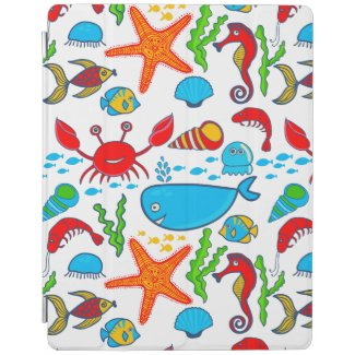 Cute Colorful See-life Illustration Pattern 2 iPad Cover