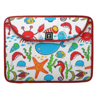 Cute Colorful See-life Illustration Pattern 2 MacBook Pro Sleeves