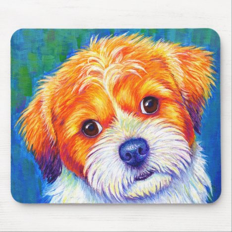 Cute Colorful Shih Tzu Dog Mouse pad