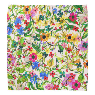 Cute colorful spring floral flowers bandana