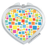 Cute colorful squares patterns compact mirror