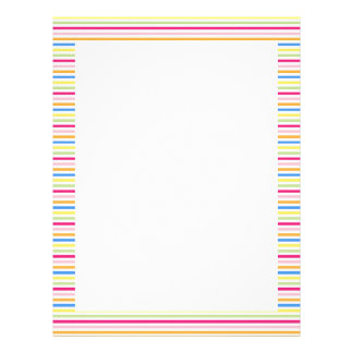 Cute colorful stripes letterhead