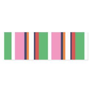 Cute Colorful Stripes Mini Profile Card