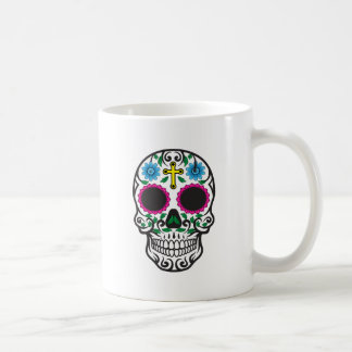 Cute Colorful Sugar Skull Coffee Mug