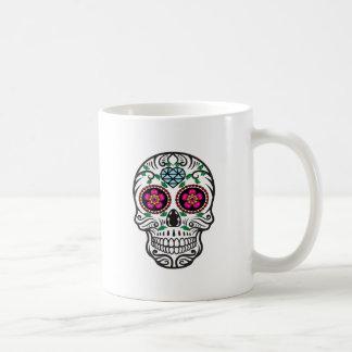 Cute Colorful Sugar Skull Dia de los Muertos Coffee Mug