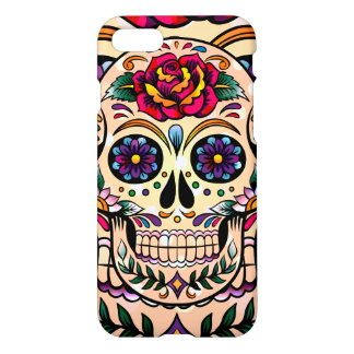 Cute Colorful Sugar Skull iPhone 7 Case