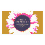 Cute Colorful SunFlower Girly Floral Business Card Templates
