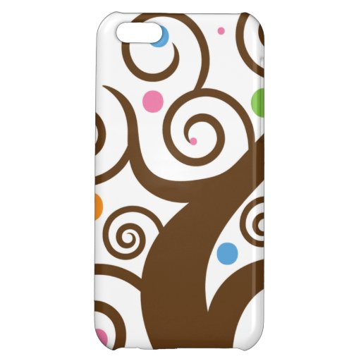 Cute Colorful Swirl Tree iPhone 5C Cover