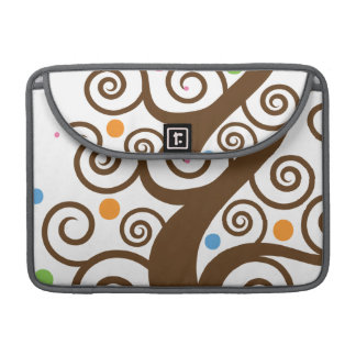 Cute Colorful Swirl Tree MacBook Pro Sleeves