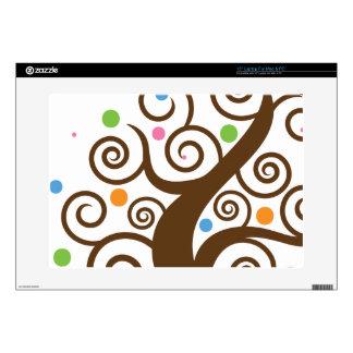 "Cute Colorful Swirl Tree 15"" Laptop Skins"