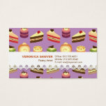 Cute & Colorful Tea Cakes Illustrated Pattern Business Card at Zazzle