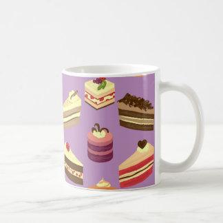 Cute & Colorful Tea Cakes Illustrated Pattern Coffee Mug