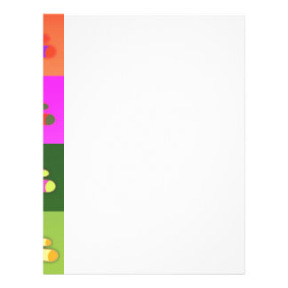 CUTE COLORFUL TEDDY BEAR COLLECTION PATTERN SQUARE CUSTOMIZED LETTERHEAD
