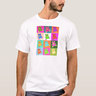 CUTE COLORFUL TEDDY BEAR COLLECTION PATTERN SQUARE T-Shirt