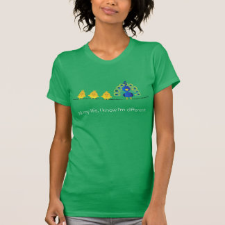 Cute & colorful toon of birds and a peacock T-Shirt