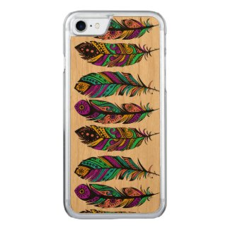 Cute Colorful Tribal Feathers Illustration