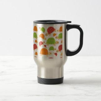 Cute colorful turtles design travel mug
