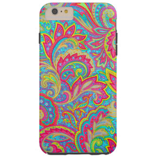 Cute colorful vintage floral design tough iPhone 6 plus case