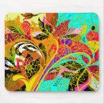Cute Colorful Vintage Floral Pattern Mousepad