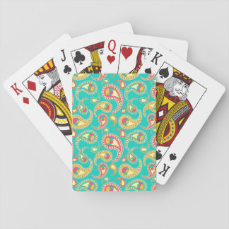 Cute colorful vintage paisley pattern playing cards