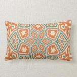 Cute Colorful Vintage Retro Nouveau Deco Pattern Pillows