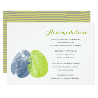 CUTE COLORFUL WATERCOLOR EASTER EGGS ACCOMMODATION INVITATION