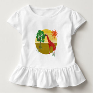 Cute Colorful Watercolor TAll Giraffe African Wild Toddler T-shirt