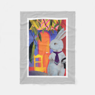 Cute Colorful White Rabbit Baby Blanket