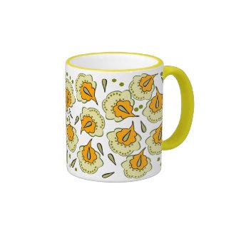Cute colorfull floral coffee mug