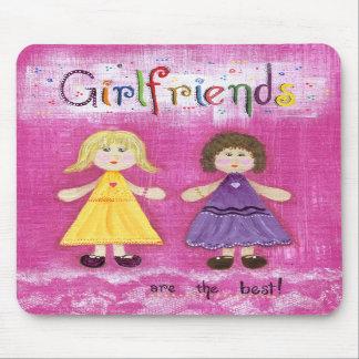 Cute, colorfull girlfriends mousepad