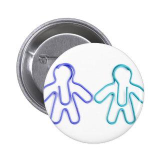 cute coloured paperclip men pinback buttons