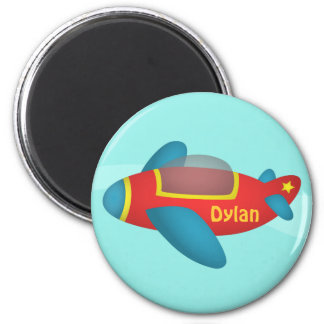 Cute Colourful Aeroplane Jet for Kids Fridge Magnets