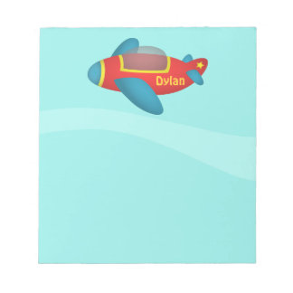 Cute Colourful Aeroplane Jet for Kids Note Pads