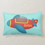 Cute Colourful Aeroplane Jet for Kids Throw Pillows
